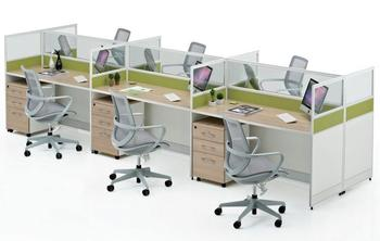 2017 Latest Modern Glass Office Cubicles Prices For 6 People