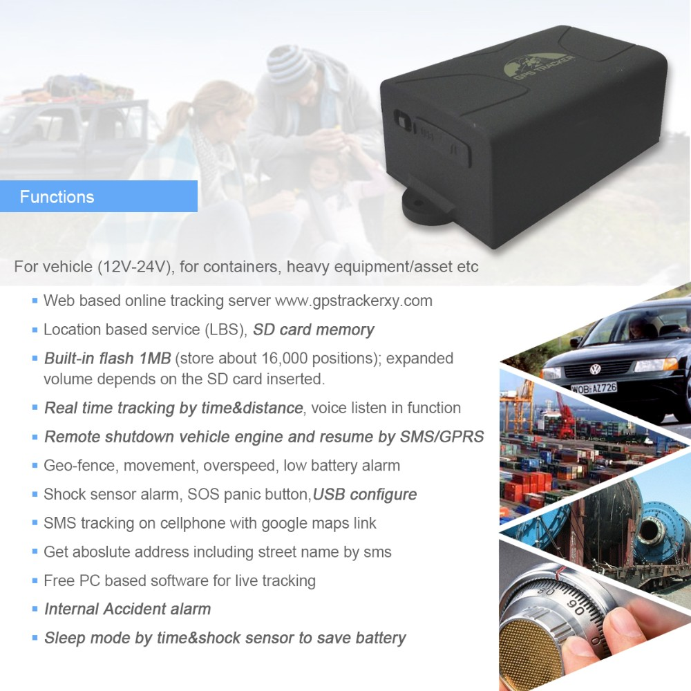 Waterdichte fabricage container GPS Tracker tracking in Android Ios apps, grote batterij container GPS tractor tracker tk104