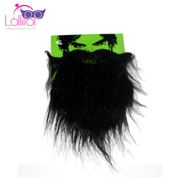 Black Fake Mustache Beard Novelty and Toy For Halloween Costume Party Decoration Fancy Dress Party Accessory