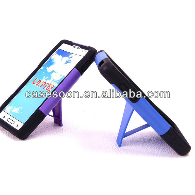 Hybird Case For LG L9,Mobile Phone Combo Case With kickStand For LG Optimus L9 P769 P760 T-Mobile