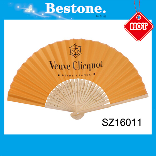 Hot sale popular gift custom printed folding hand fan for wedding