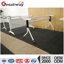 portable metal type folding desk with caster