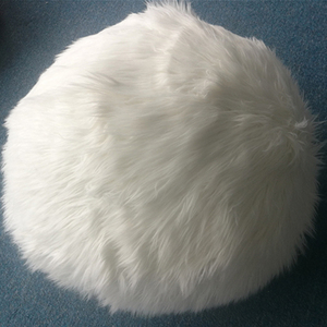 Faux fur comfortable furry bean bag lounge