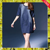New style o-neck loose casual denim lady dress