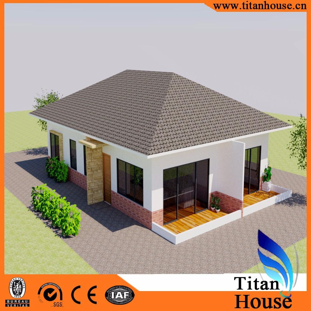 Een niveau lage kosten aangepast ontwerp stalen prefab bungalow ...