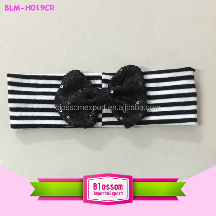 wholesale fashion European hot sale children Bronzing rabbit ear knot 8pcs Kids Baby Girl Headscarf Headbands