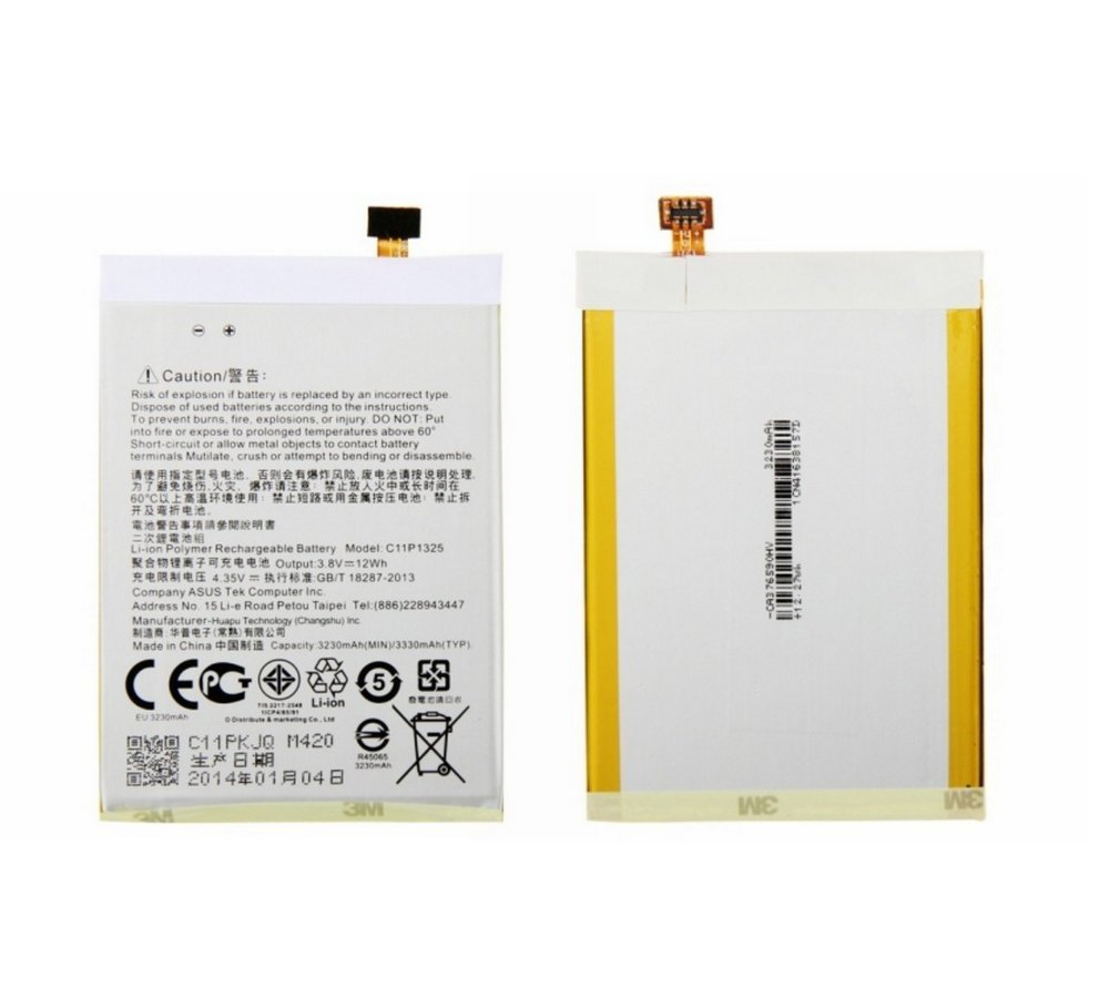 High Quality C11P1325 3330mAh Replacement & Rechargeable Li-Polymer Battery For ASUS ZenFone 6 A600CG A601CG T00G