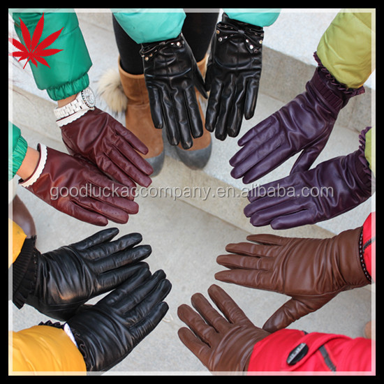 Leather gloves for women and men wholesale in China factory leather gloves