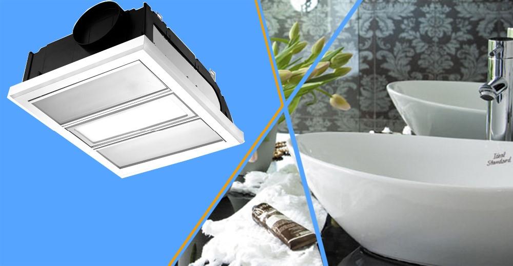 Buy El 20043 Bathroom Ceiling Light: Techo 3-en-1 Multifunción Cuatro Lámparas Ventilador De