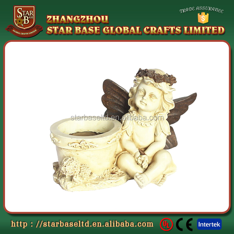 Fairy decorative wholesale price garden resin planter flower pot