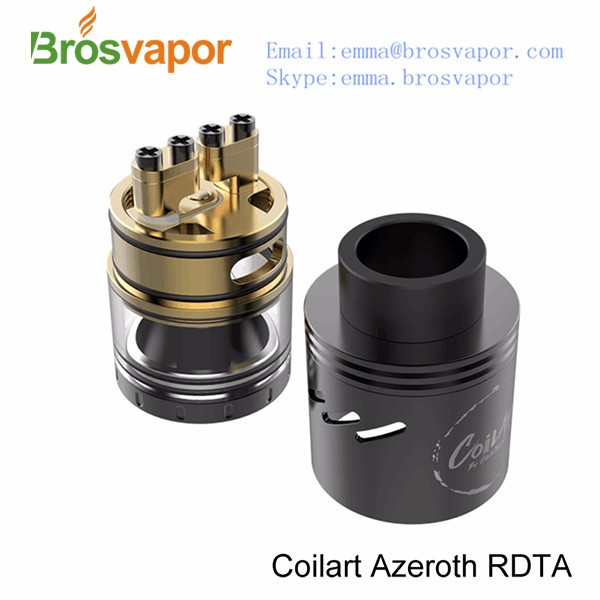 In Stock !Authentic CoilART Azeroth RDTA Rebuildable Dripping Tank Atomizer 4ml / 304 stainless steel + glass mage