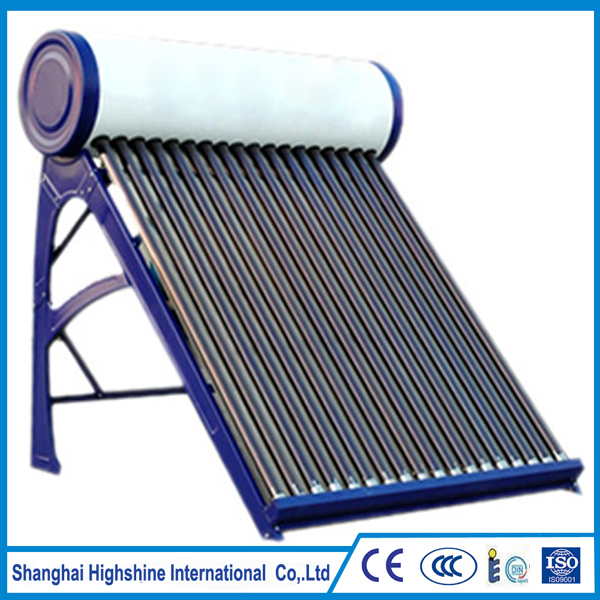 Christmas New year Integrated Compact Solar Water Heater Customized Low Pressure Rooftop Home Using