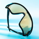 New Design Manufacture One Piece Mirrored Lenses Plastic Sport Bicycle Goggles Sunglasses Sun Glasses