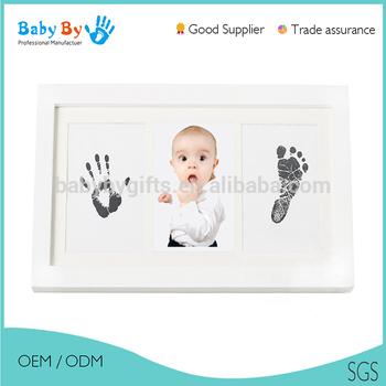 Hot Sale Baby Diy Hand Fan Printing Handprint And Footprint Frame