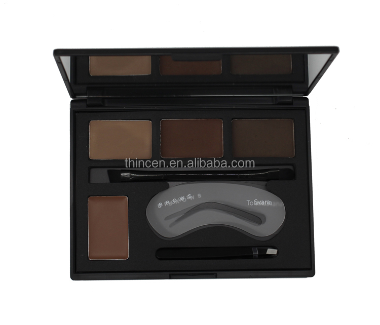 High quality cosmetics 4 color eyebrow powder palette eyebrow makeup powder kit private label