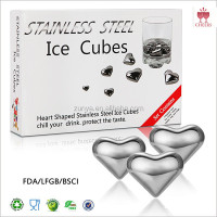 Stainless Steel Whisky Stones Cube Glacier Whiskey Rocks