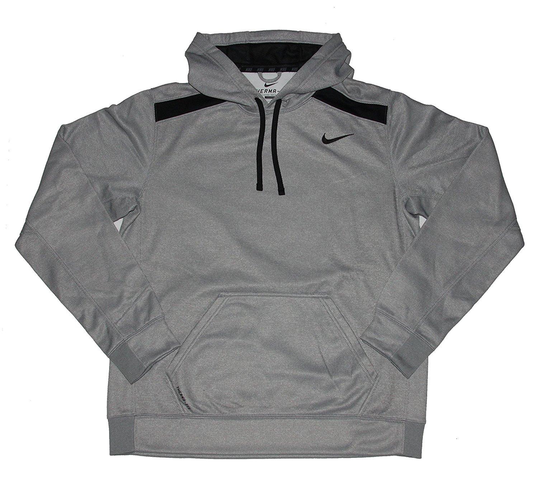 63791a48e39c29 Buy Nike Mens Therma-FIT Shield Nailhead Hoodie Grey-Black Large ...