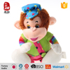 Wholesale stuffed animal plush monkey with colorful clothes and hat