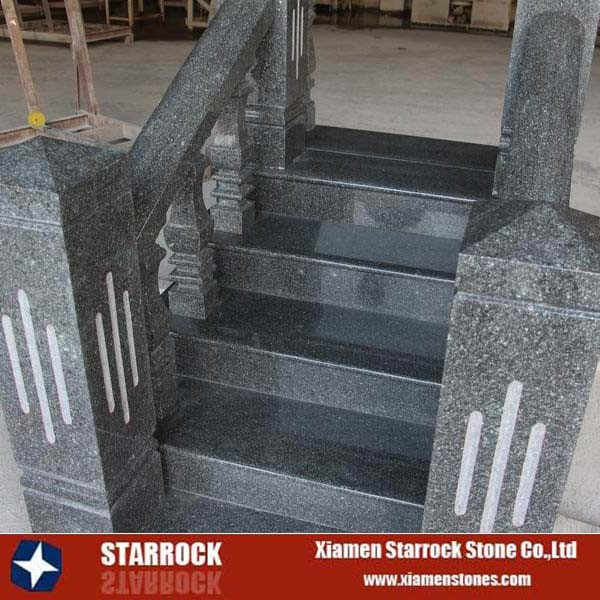 Green Pearl Granite Exterior Modern Design Outdoor Stair