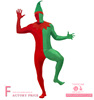 New Produce Promotional Artistic Men Christmas Elf Second Skin Costume For Party