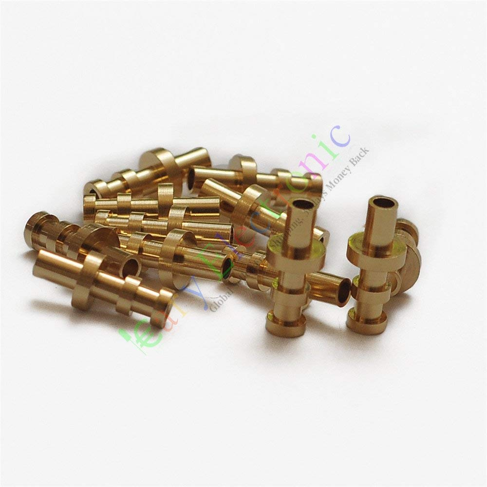 Cayyi 50pc copper plated Gold Turret Lug for 3MM Fiberglass Terminal Tag Board Audio