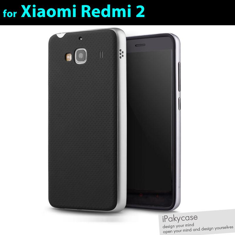 brand new ff3b7 8e9ff New arrival 100% orginal IPAKY brand PC frame+silicon material xiaomi redmi  2/hongmi 2 Case/cover ,6 colours in stock!