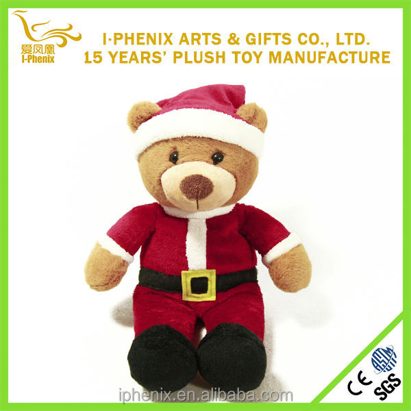 China wholesale stuffed animal cute plush Christmas bear children gifts plush Christmas bear for sale