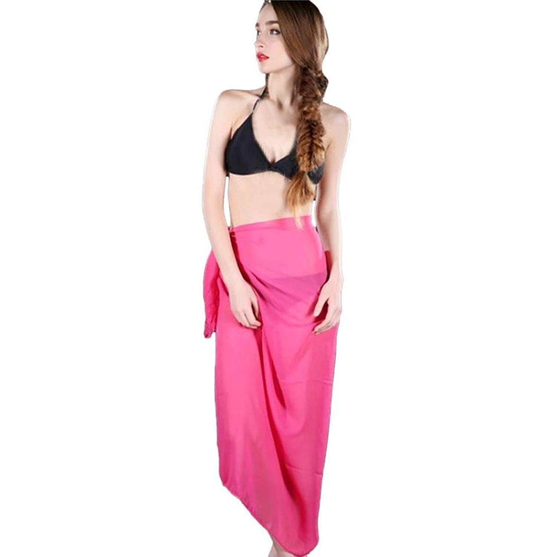 4ada9e63ea Get Quotations · Wqueen 2018 Chiffon Beach Skirt Women Chiffon Cover Skirt  Women Beach Up Bikini Swimwear Cover Up