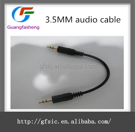 3.5mm male to male mono plug audio vedio cable