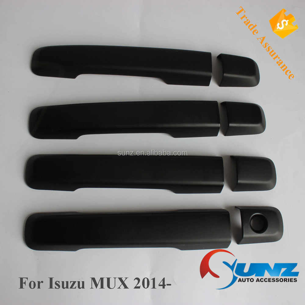 Abs Plastic Door Handle Cover Black For Mux 2014 Car Accessories Isuzu