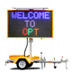 18101 Optraffic CE EN 12966 Mobile Solar Powered Traffic Display 5 Colour LED VMS Signs Trailer, VMS Boards