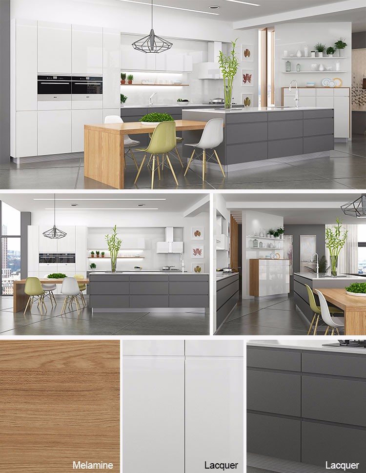 grey lacquer kitchen cabinets | winda 7 furniture