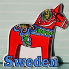 Most popular Custom magnetic memo board,Wooden Horse of Sweden 3d custom soft pvc magnet,car shape fridge magnet ---DH20339