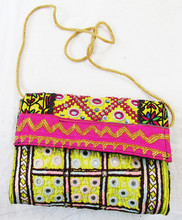 Latest 2016 New Fashion Vintage banjara embroidery Clutch Bag
