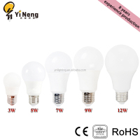 Best Quality LED Luces 3w/5w/7w/9w/12w B22/E27 Para Globos Aluminum PP LED Bulb Light