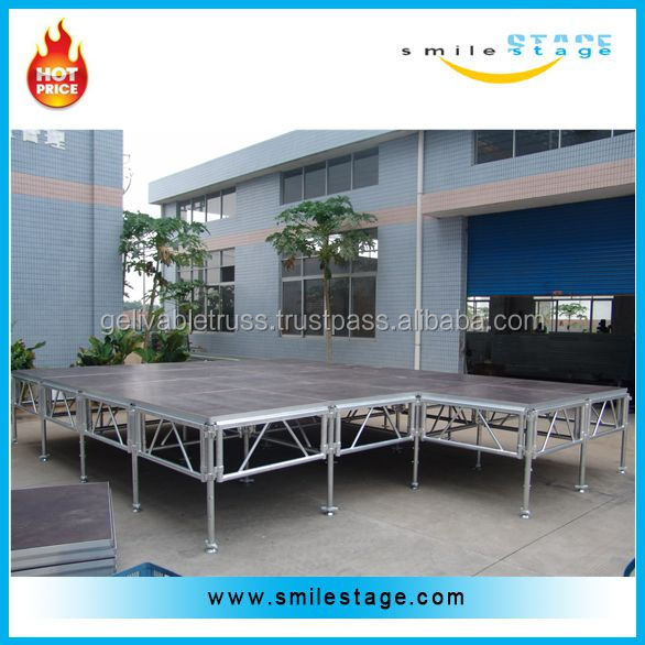 swing stage retractable stage used for musical instrument