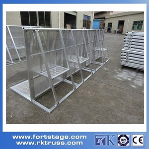 High Quality TUV Scissor Barrier Sample/Event support services Foldable stage barrier/Aluminum Alloy Crowd Stopper Barrier