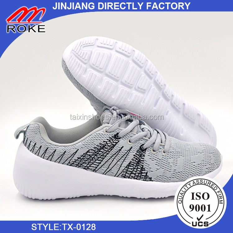 fly knit upper non-slip rubber soles sport shoes for women for lady