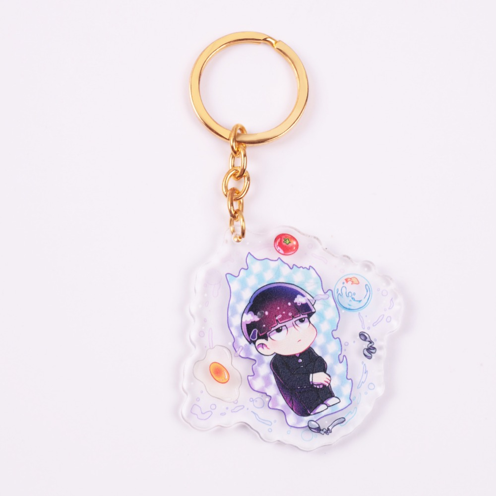 custom transparent acrylic epoxy manga Animation cartoon keyring