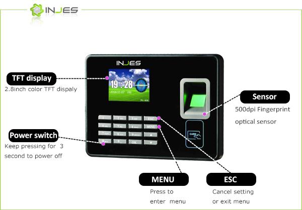 MYA8 Wireless 3000 Fingerprint TCP IP Wiegand Attendance Thumb Impression Machine