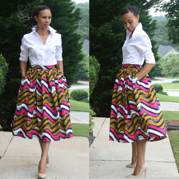 e2d4dffec3 African Maxi Skirt With Pockets African Fashion Clothing Midi .