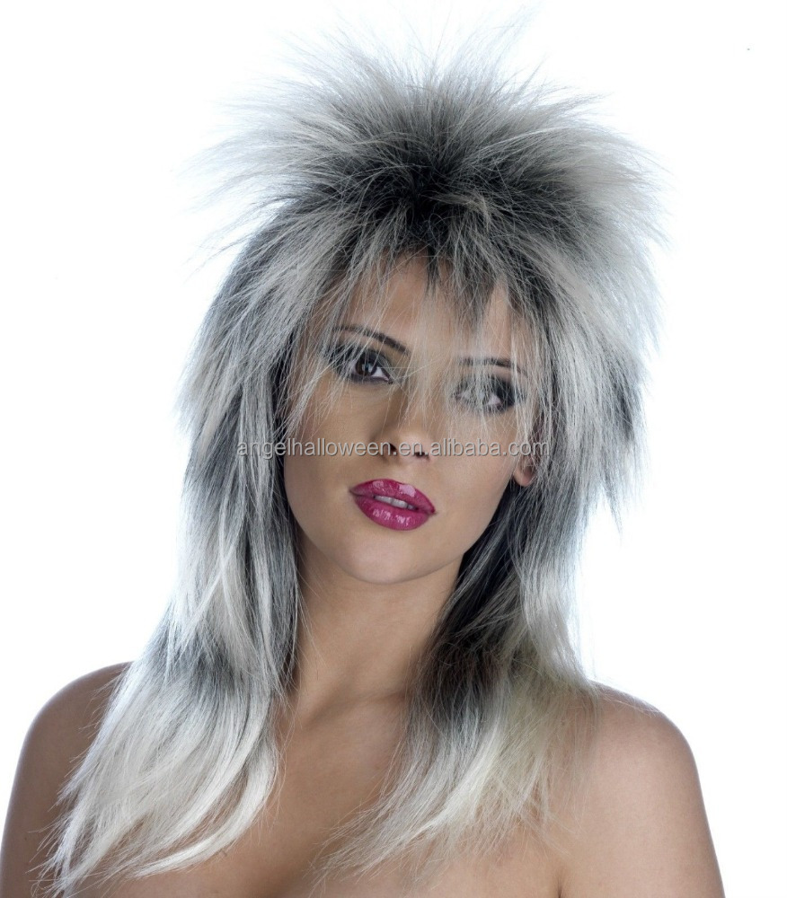 Ladies Silver 70s Chick Glam Rock Costume