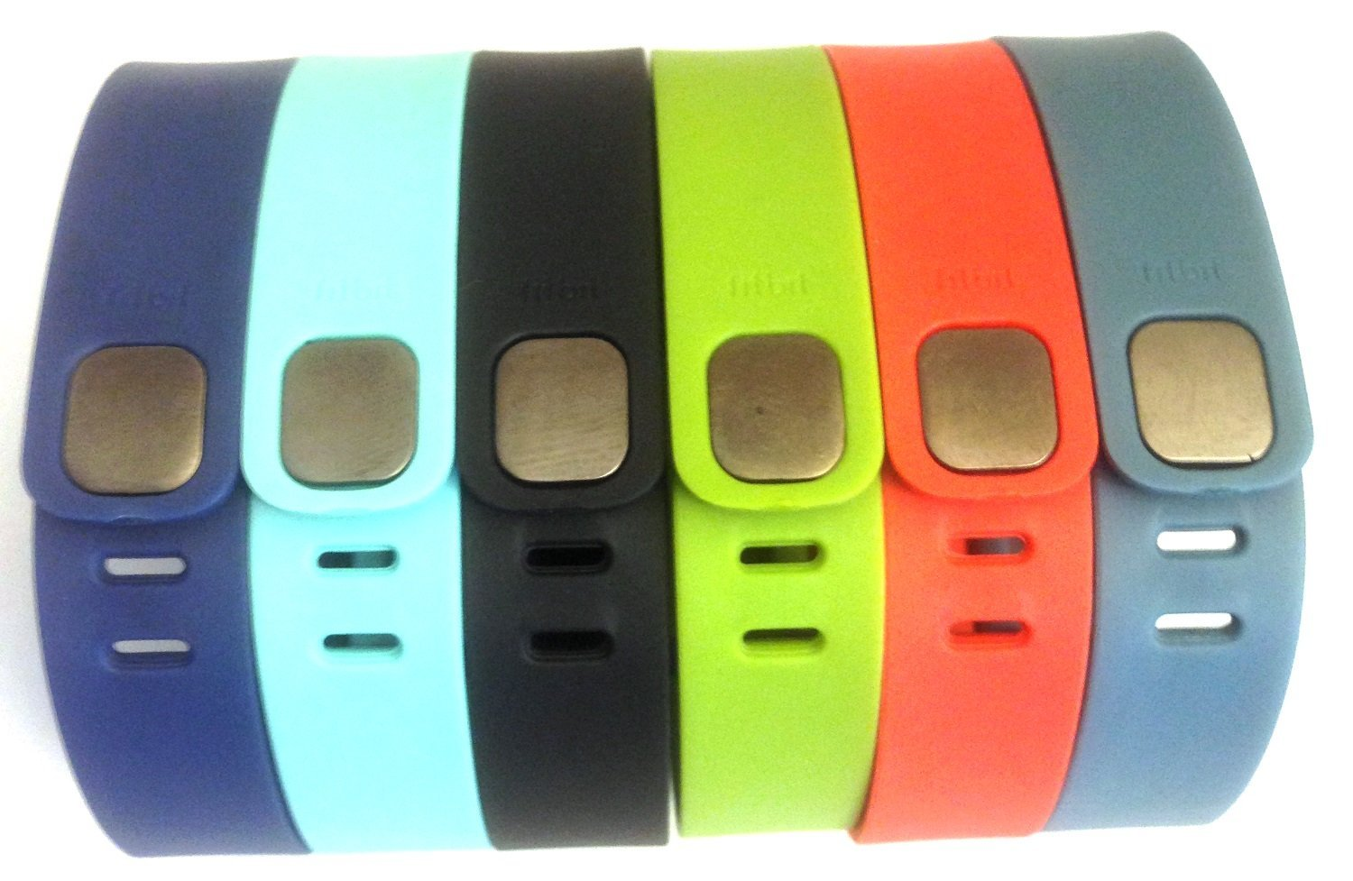 Set 6 Large L 1pc Navy 1pc Lime Green 1pc Teal (Blue/Green) 1pc Black 1pc Red (Tangerine) 1pc Slate (Blue/Grey) Replacement Bands with Clasps for Fitbit FLEX Only /No tracker/ Wireless Activity Bracelet Sport Wristband Fit Bit Flex Bracelet Sport Arm Band Armband