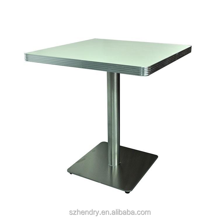 American Retro Diner Laminate Table,Square Antique American Plywood  Restaurant Table - Buy American Retro Table,Antique Restaurant  Table,American ...