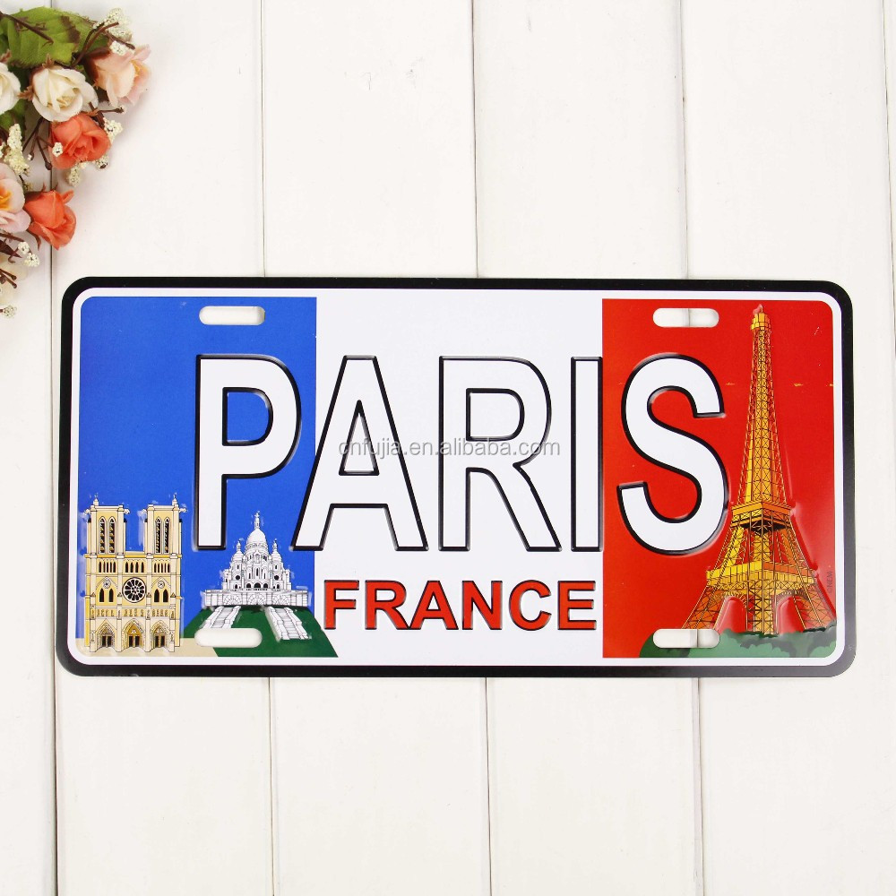 Paris France License Plate,Embossed Plates,Chinese Manufacturer ...