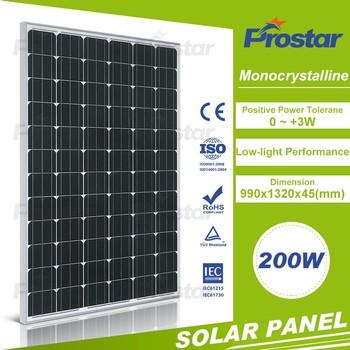 black 200w monocrystalline solar cell solar panel solar module buy black solar panel solar. Black Bedroom Furniture Sets. Home Design Ideas