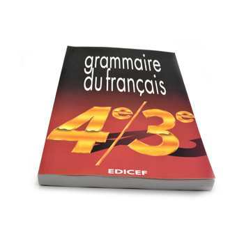 school softcover book for student textbook printing English/Spanish/French text book