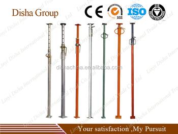 formwork telescopic adjust jack post support steel shoring props