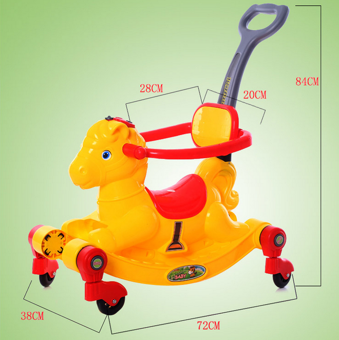 China manufacturer wholesale cheap price plastic horse baby ride on toy car
