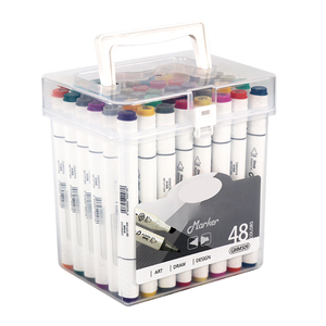 48 Colors Artist Alcohol Based Dual Tipped Twin Art Marker Set